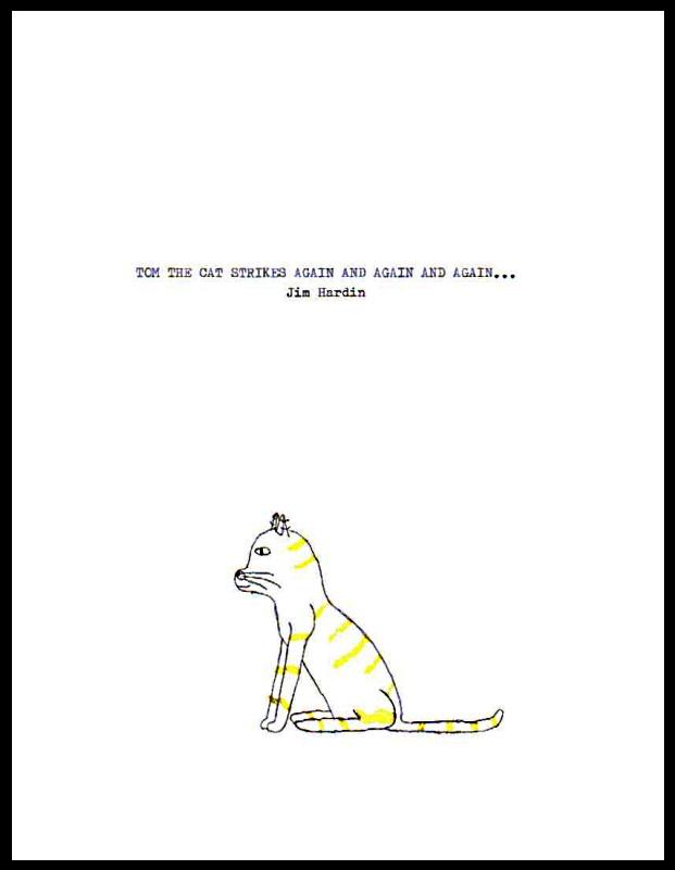 Tom the Cat manuscript cover